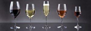 olika typer av vinglas